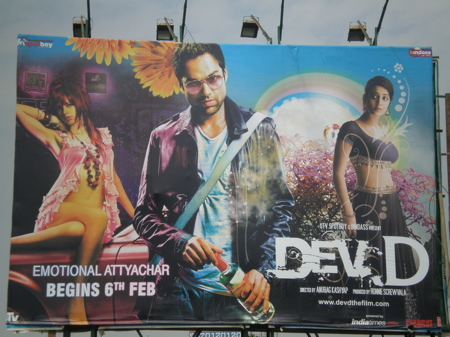 Dev.D poster on Juhu Tara Road, Bombay